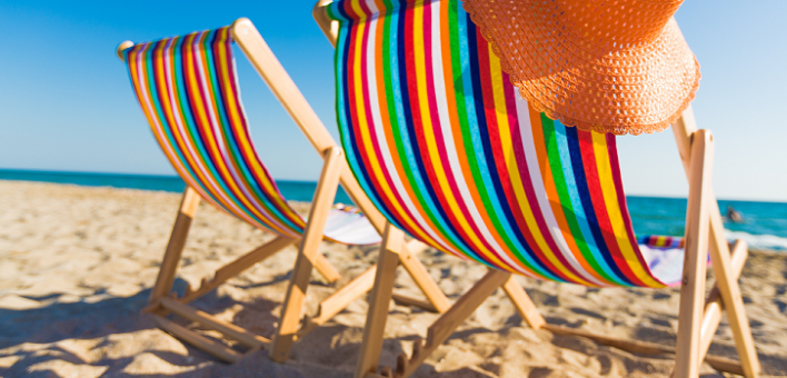 Generic image of deckchairs on the beach