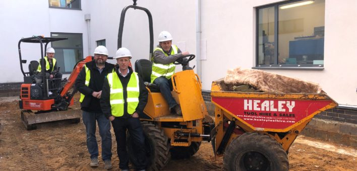 Stroods on site (Jan 2019) - Shaun Rampton, Leon Seccombe, Lee Tyler and Robert Le-Chalmers