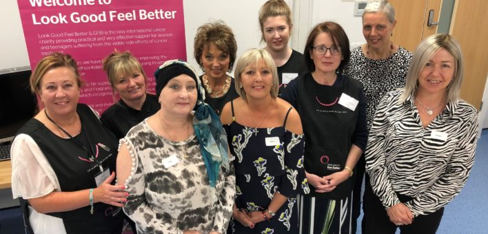 The Look Good Feel Better volunteers pictured with Kay Stamp, Deborah Slater, Debra Molyneux and Sharon Tansley
