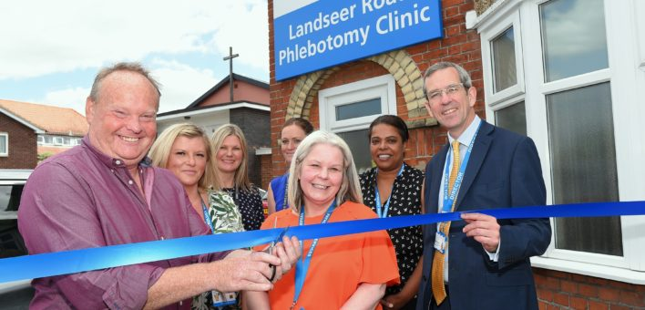Landseer Road Phlebotomy Clinic ribbon cutting
