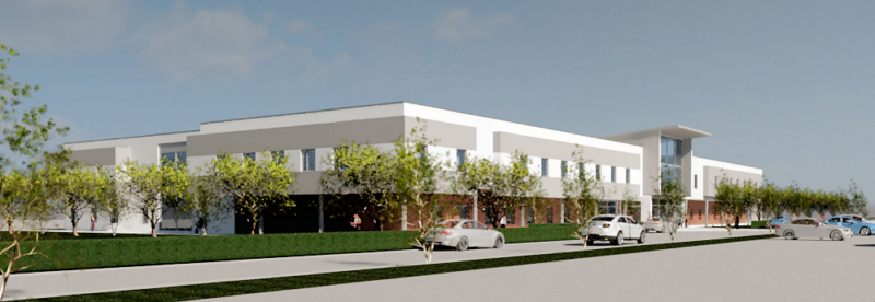 Artist's impression orthopaedic surgery centre