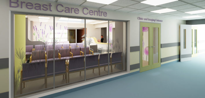 Architect's impression of the entrance to the proposed new Breast Care Centre