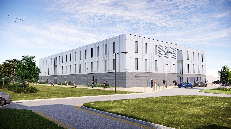 Artists impression of new elective orthopaedic centre